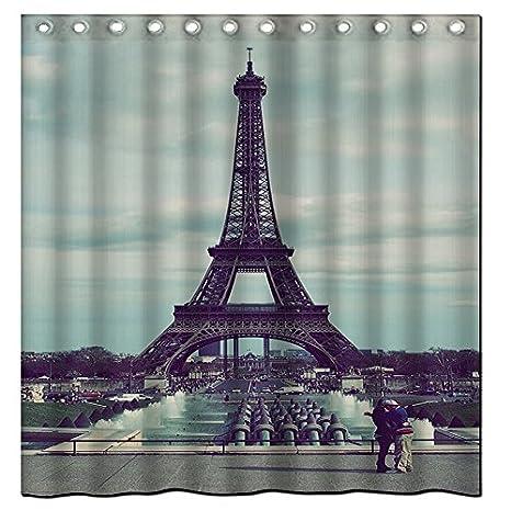 Amazon.com: Paris City Waterproof Polyester Fabric Bath Shower ...