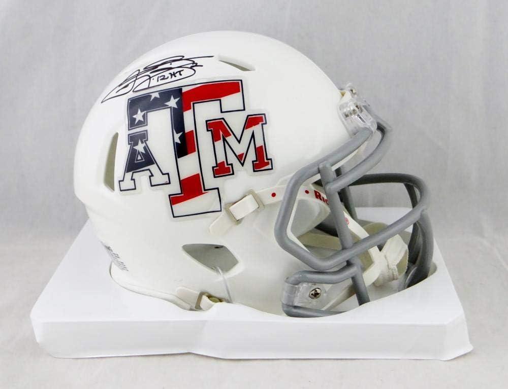 Fanatics Authentic Certified Johnny Manziel Texas A/&M Aggies Autographed White Riddell Mini Helmet withHeisman 12 Inscription