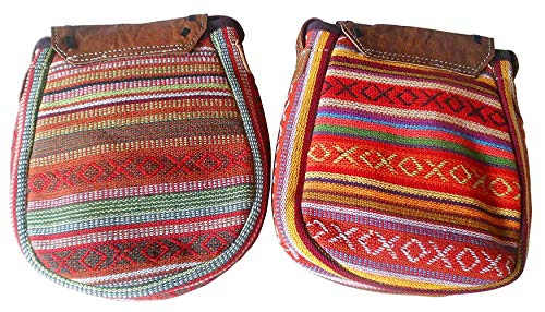 Textile D'ÉPAULE Tones en Passeport Sacs Cuir ET Moontang Tissu Buffalo coloré Multicolour Earth Taille Z1YxS