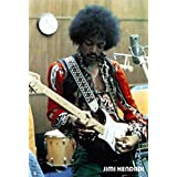 Jimi Hendrix Playing in Studio Psychedelic Classic Rock Music Print (24x36 Unframed Poster)