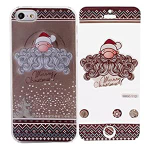 Merry Christmas Santa Claus Pattern While Calling Or Called Lightning Flash Led Case for iPhone 5/5S