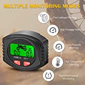 Tymate TPMS Tire Pressure Wireless System for Motorcycle, Tire Pressure Monitoring System with 2 DIY Sensors - Waterproof Digital LCD Display, Gauge Monitoring System for Motorcycle - 5 Alarm Modes
