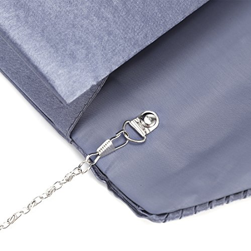 Blue Womens Diamante Ladies Bridal Party Bag Satin Evening Navy Prom Envelope Clutch wwIP7Hxpq