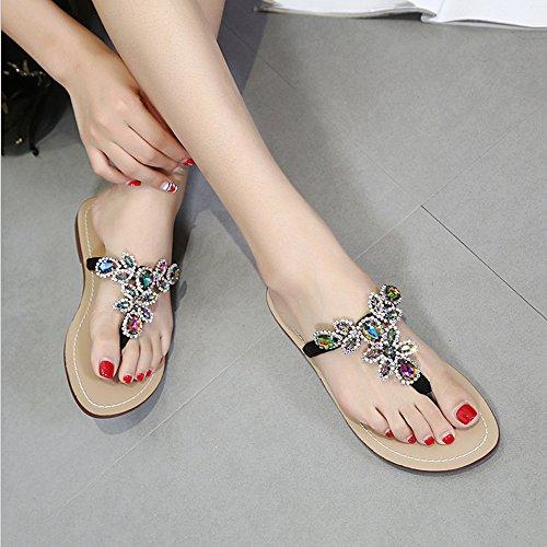 EU Angel et Sandales 3 Purple love 39 Femmes Sandales Violet 6 Plates Chaussures beauty Silver Color Nous Strass Size 10 Romaine Fille Argenté 1 B6frxBwXq