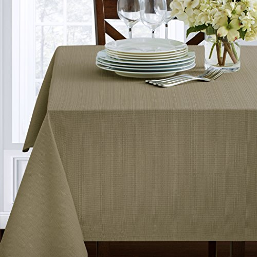Textured Heavyweight Fabric Tablecloth, Dune, 60