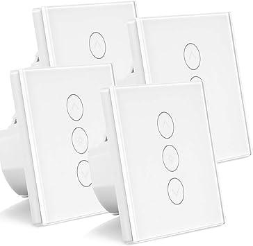 WiFi Lichtschalter Glas Touch Dimmer Schalter Livolo Sprach 3 Gang LED E27 6W