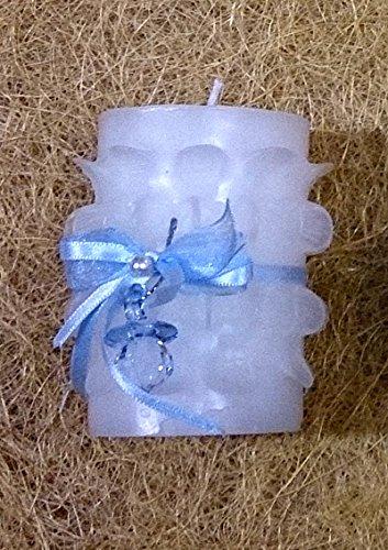 Detalle de Bautizo cinta chupete (azul)-Vela decorada con un ...