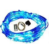 Zzmart USB String Lights, New Version Dimmable & Timer 5V 50ft 150 Leds String Lights - Waterproof Flexible Copper Wire, Holiday Decorative LED Lights for Outdoor and Indoor (50, Blue)