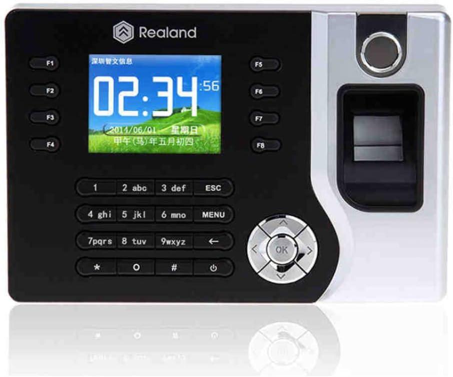 HFeng TCP / IP / USB Huella digital biométrica Registrador de reloj de tiempo Asistencia Empleado Máquina de lector de sacador electrónico Realand A-C071 2.8 pulgadas