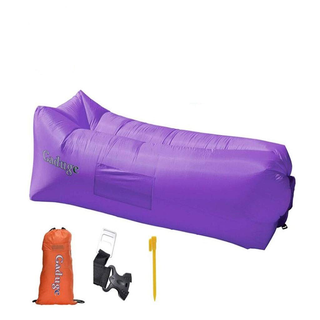 Inflatable Lounger - Best Air Lounger for Travelling, Camping, Hiking - -Ideal Couch for Backyard Lakeside Beach Traveling Camping Picnics & Music Festivals (Color : Purple) by Chenguojian
