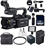 Canon XA11 Compact Full HD ENG Camcorder #2218C002 (International Model) + 64GB SDXC Class 10 Memory Card + BP-820 Replacement Lithium Ion Battery + External Rapid Charger Bundle