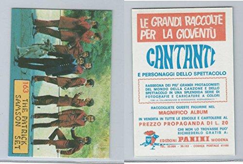 (1968 Panini, Cantanti Music Artists Card, 163 Patrick Samson Set, ZQL)