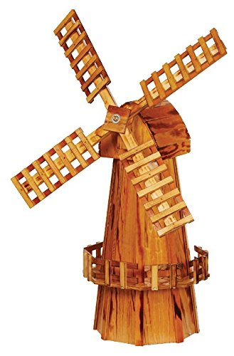 Garden Oaks Specialties Medium Wooden Windmill -