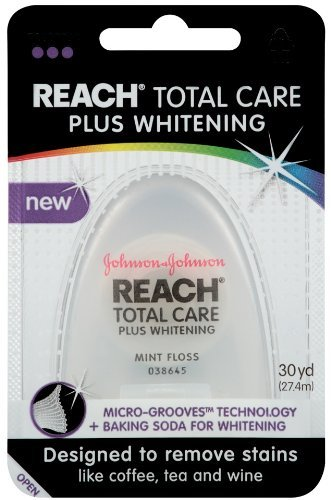 Reach Total Care Plus Whitening Mint Floss, 30 Yard (Pack of 18)