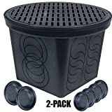 StormDrain 2-Pack FSD-3017-20BKIT-6 20 in. Large Round Catch Basin with Black Grate Kit