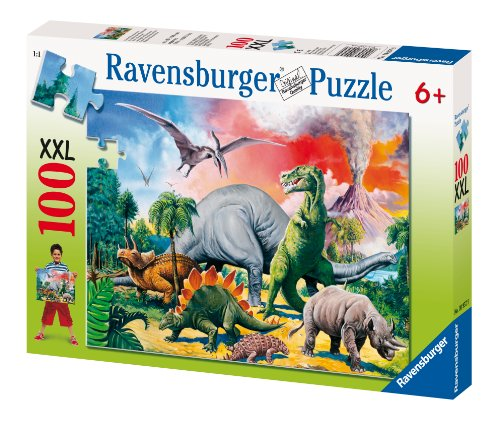 Among the Dinosaurs Puzzle - 100 Pieces