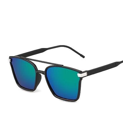 BiuTeFang Gafas de Sol Mujer Hombre Polarizadas Retro Elegante Caja Grande Color Cine Gafas de Sol