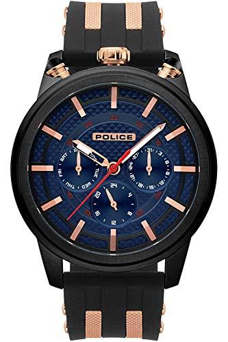 Police Upside Mens Analog Quartz Watch with Silicone Bracelet R1451299002