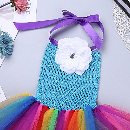 Amazon.com: Freebily Girls Cartoon Skirt and Headband Cosplay Costume Halloween Party Outfits (6-7, Rainbow): Clothing