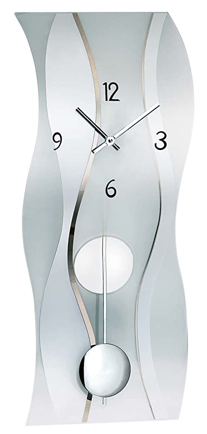 AMS Orologio da parete moderno con meccanismo al quarzo: Amazon.it ...