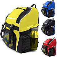 Soccer Backpack - Basketball Backpack - Youth Kids Ages 6 and Up - with Ball Compartment - All Sports Bag Gym