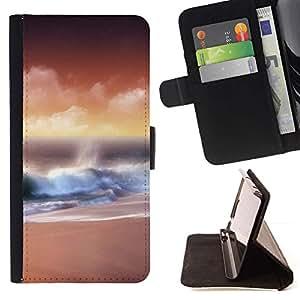For Sony Xperia M4 Aqua Case , Naturaleza Hermosa Forrest Verde 111- la tarjeta de Crédito Slots PU Funda de cuero Monedero caso cubierta de piel