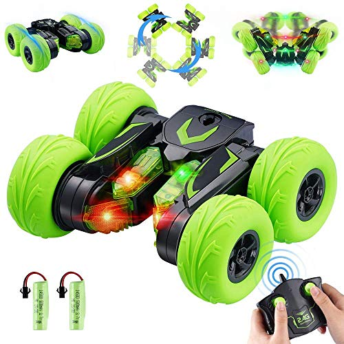 OYE HOYE RC Stunt Car Toy for Kids 360° Flips LED Remote Control Race Stunt Car with Headlight RC Car Wireless Remote Control Car Xmas RC Truck Vehicles Toy Car