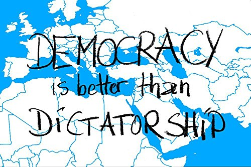 LAMINATED 36x24 inches Poster: Demokratie Dictatorship Europe Country Borders Responsibility Earth Globalization Global International Globe Worldwide State States Of America Symbol Policy