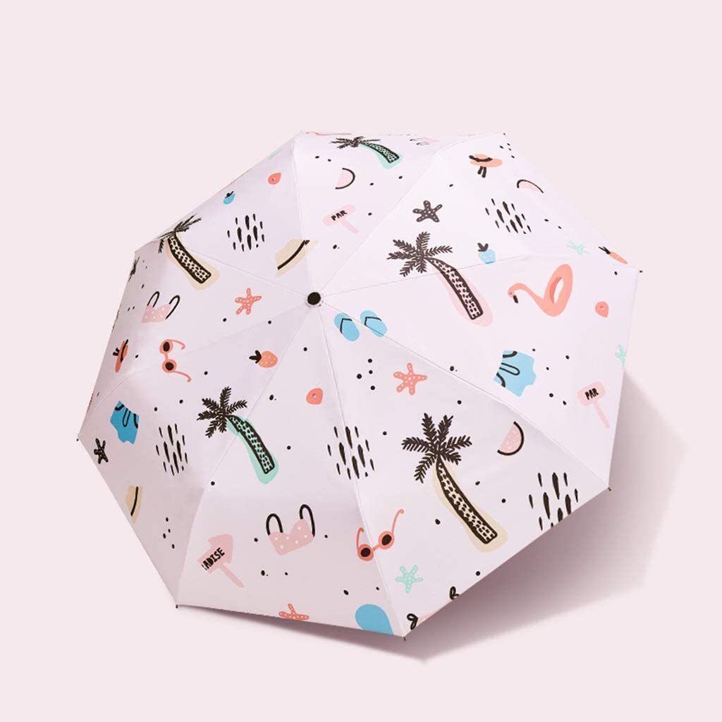 Umbrella Anti-UV Rain and Rain Dual-use Sunshade 8 Bone Umbrella Stand Umbrella Light Pink