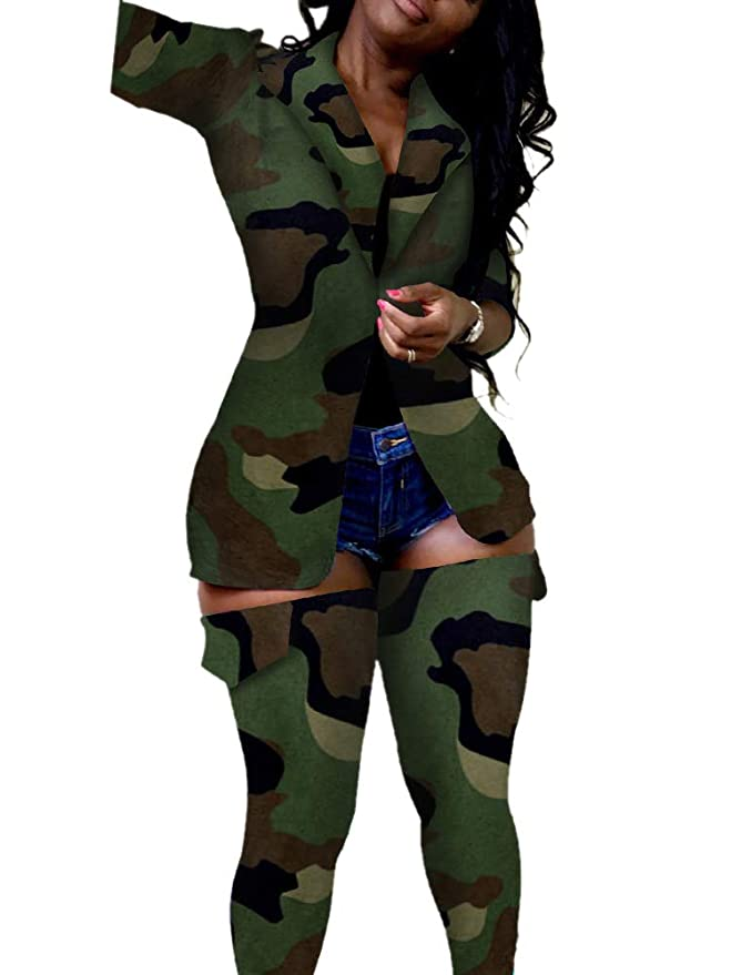 Amazon.com: NVXIYYA traje de 2 piezas para mujer Leopard ...