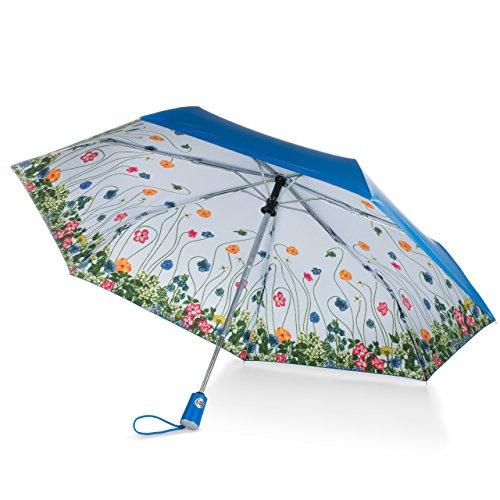 Polka Print Tote Dots - totes Under Canopy Print Auto Open Close Umbrella,Floral