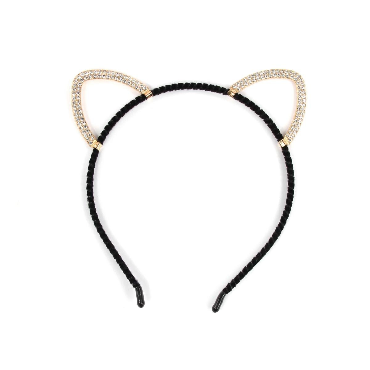 ZADAWERK® Katzen Haarreif mit Strass