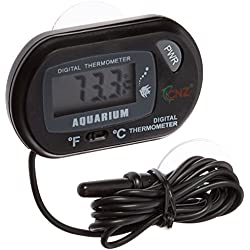 Leegoal Digital Aquarium Terrarium Fish Tank Thermometer(Black)