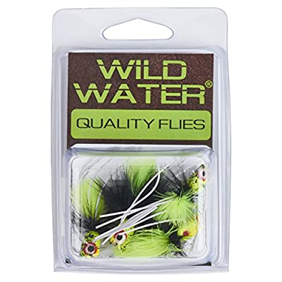 Wild Water Black and Chartreuse Little Fatty Popper, Size 8, Qty. 4, by Pultz Poppers
