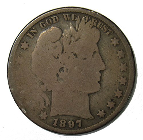 1897 P Silver Barber Half Dollar 50c About Good