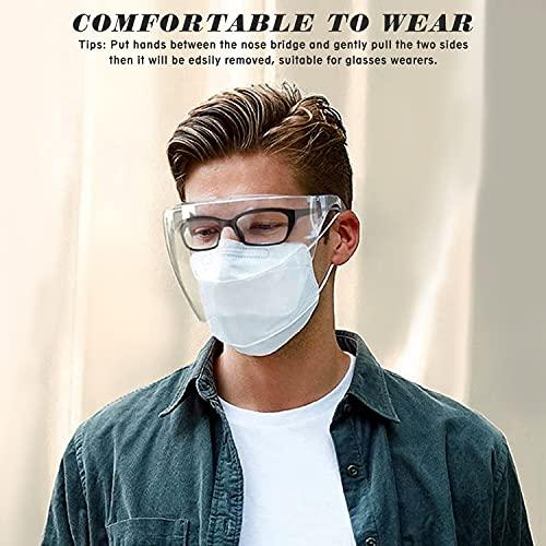 Goggle Sunglasses Visor Full Face Cover Unisex UV 400 Protective Face Shield Glasses Daily Tinted Lens Eyewear
