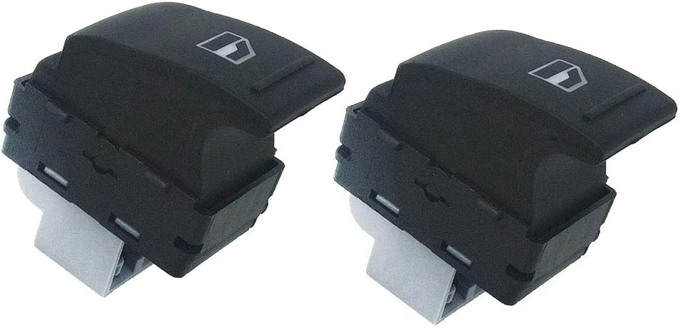 Homyl Pair Of Electric Window Control Switch Rear Left//Right For VW Transporter T5 T6
