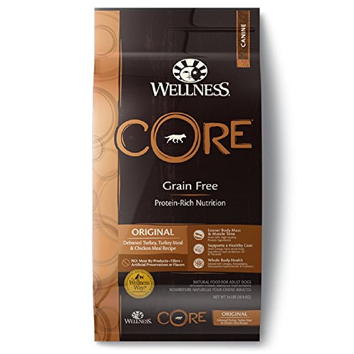 Wellness CORE Original Turkey & Chicken Dry Dog Food, 24-Pound Bag Wellness Core Original Grain