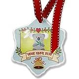 Add Your Own Custom Name, Cute Animals for Kids Koala Bear Christmas Ornament NEONBLOND