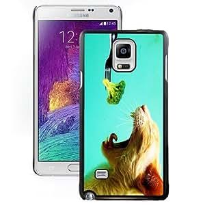 Beautiful Unique Designed Cover Case For Samsung Galaxy Note 4 N910A N910T N910P N910V N910R4 With Broccoli Cat Black Phone Case