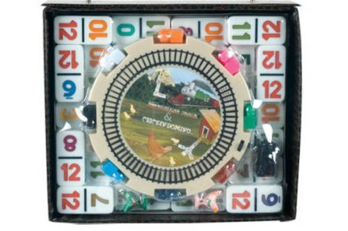 Double 12 Numeral Mexican Train Dominoes with 2-in-1 Hub