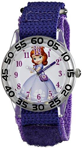 Disney Kids' W001688 Sofia the First Plastic Case Watch with Purple Strap
