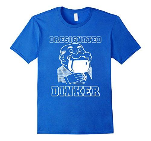 [Men's Designated Drinker - Slurred T-shirt Medium Royal Blue] (Designated Drinker)