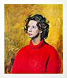 1965 Print Henry Carr Diana Portrait Woman Red Yellow Lipstick Art Sweater Polo - Original Halftone Print