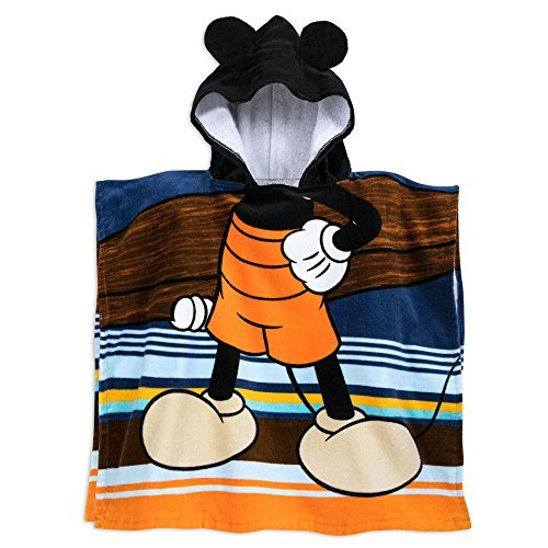 Disney Mickey Mouse Hooded Towel for Kids, used for sale  Delivered anywhere in USA