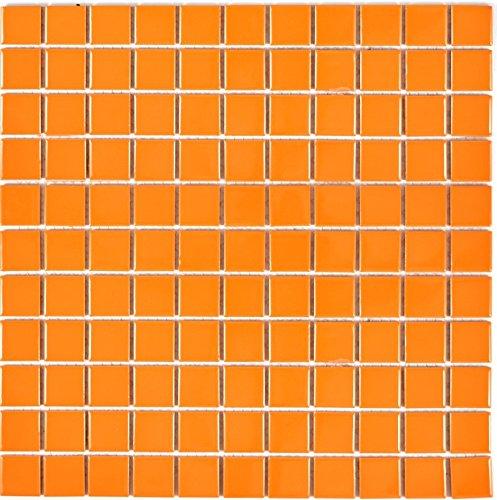 Mosaï que pour carrelage en cé ramique orange brillant pour tapis Revê tement miroir mural de salle de bain wc douche Cuisine Carreaux Revê tement theken baignoires Plateau Mosaï que Tapis Mosaï que 1 Mosaik-Netzwerk