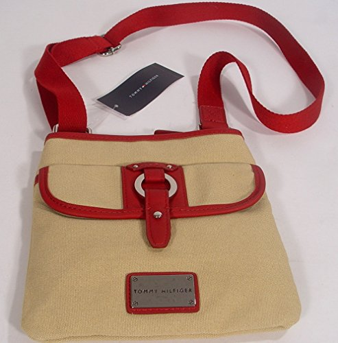 Xbody Tommy Handbag Messenger Hilfiger Red Beige Bag Crossbody EEwT8RUqO
