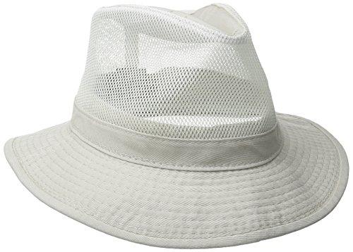 Dorfman Pacific Co. Men's Garment Washed Twill Mesh Side Safari, Putty, X-Large