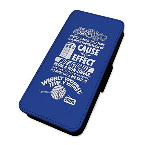 Tempo viaggio citazione–Police box–Flip cover in pelle copertura di carta Apple iPhone 4/4S