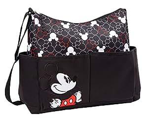 Disney Mickey Black Hobo with Mickey Print Diaper Bag
